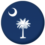 South Carolina State Flag 58mm Mirror Keyring